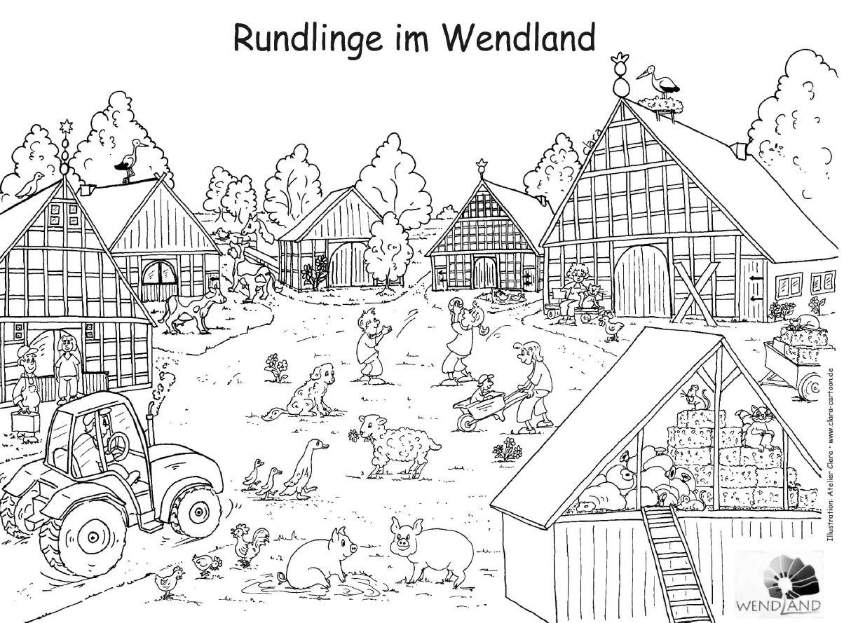 Ausmalvorlage Rundling
